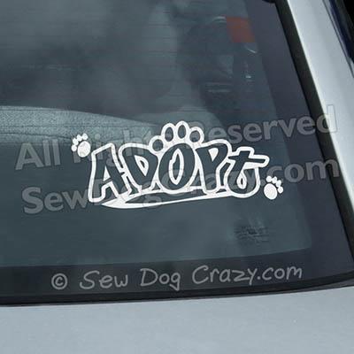 Adopt a Dog Window Decal