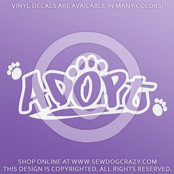 Adopt a Dog Vinyl Sticker