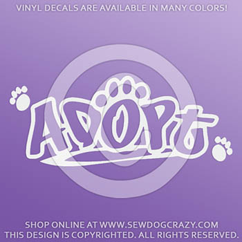 Adopt a Dog Vinyl Sticker