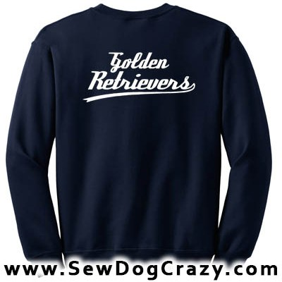 Golden Retriever Baseball Sweatshirt