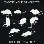 Rat Silhouette Decals