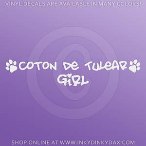 Coton de Tulear Girl Decals