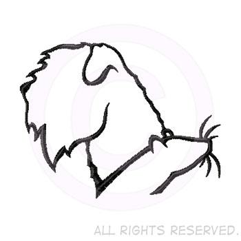 Wheaten Terrier Earthdog Embroidery