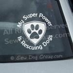 Rescue Dogs Window Sticker