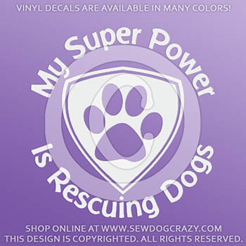 Super Power Rescue Dogs Decals