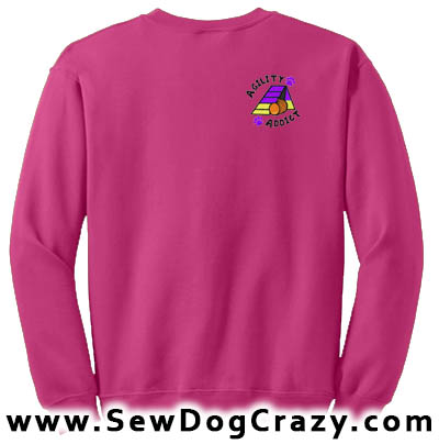 Embroidered Agility Addict Sweatshirt