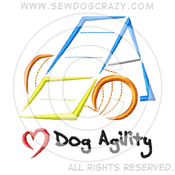Embroidered Dog Agility Shirts