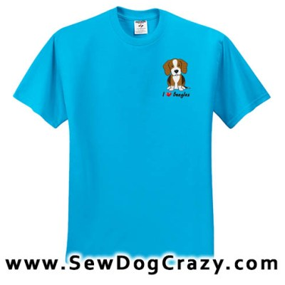 Embroidered Cartoon Beagle TShirts