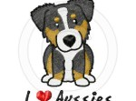 Cartoon Tri Color Australian Shepherd Gifts