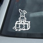Straw Bale Dog stickers