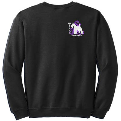 Wire Fox Terrier Embroidered Sweatshirt