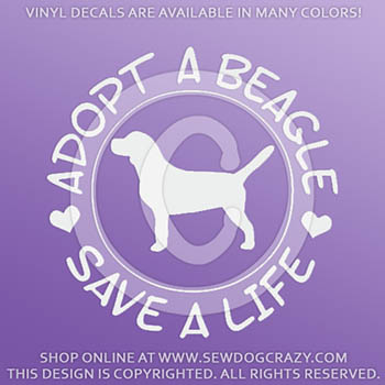 Adopt a Beagle Vinyl Stickers