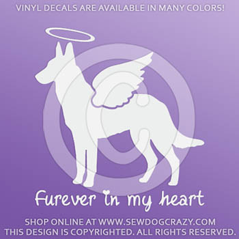 Personalized Malinois Vinyl Stickers