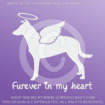 Angel Smooth Collie Vinyl Stickers