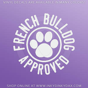 French Bulldog Approved Decals