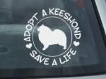 Adopt a Keeshond Decals