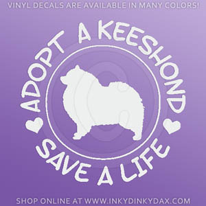 Adopt a Keeshond Decal
