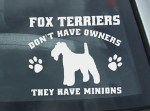 Funny Wire Fox Terrier Decals