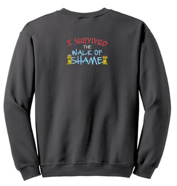 Embroidered Walk of Shame Sweatshirt