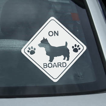 Australian Terrier On Board Stickers