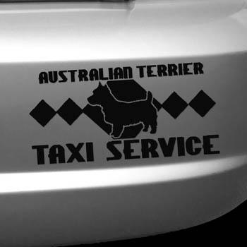 Australian Terrier Taxi Sticker