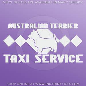 Australian Terrier Taxi Decal