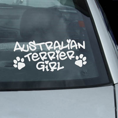 Australian Terrier Girl Decal