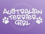 Australian Terrier Girl Decals