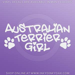 Australian Terrier Girl Decals