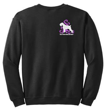 natural Custom Embroidered Sweatshirt Shirt Schnauzer