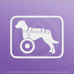 Dog in Wheelchair Decal
