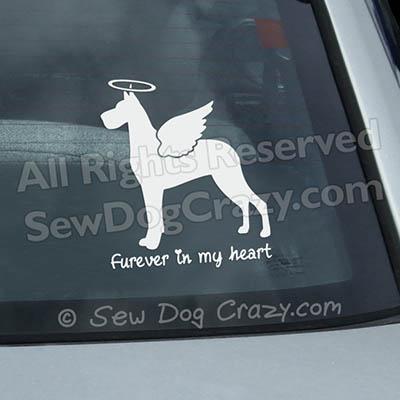 Angel Great Dane Car Decal
