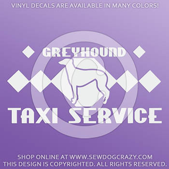 Greyhound Taxi Decals