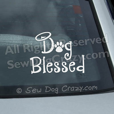 Dog Blessed Car Window Sticker