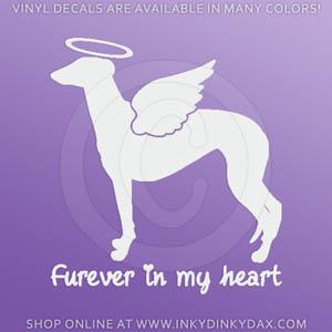 Angel Greyhound Decal