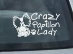 Crazy Papillon Lady Decal