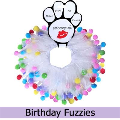 Birthday Fuzzies Dog Collar