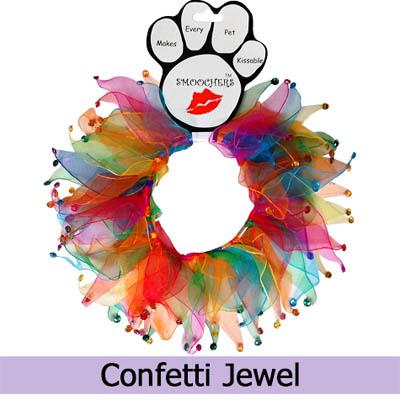 Confetti Jewel Collar Ruff