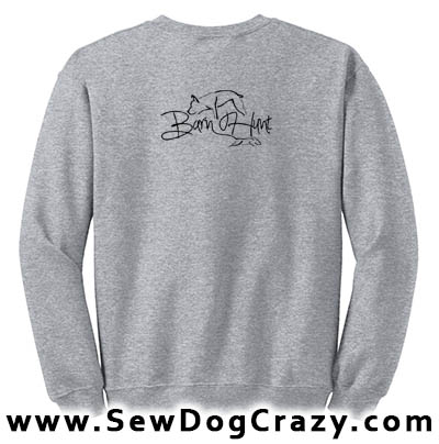 Embroidered Barn Hunt Sweatshirt