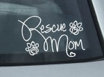 Rescue Mom Decal Dog Lovers