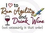 Run Agility Drink Wine Shirts