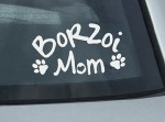 Borzoi Mom Decal