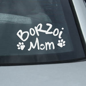 Borzoi Mom Decal