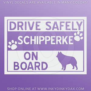 Schipperke On Board Sticker