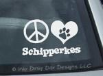 Peace Love Schipperkes Decal
