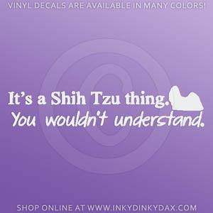 Funny Shih Tzu Vinyl Stickers