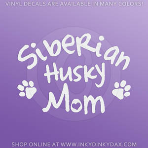 Siberian Husky Mom Decals