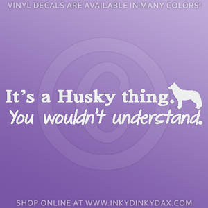 Funny Siberian Husky Decals
