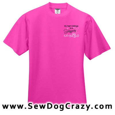 Pretty Embroidered Schipperke Tees