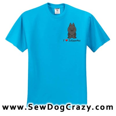 Cartoon I Love Schipperkes Tshirt